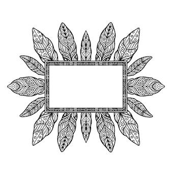 Detaillierter boho-rahmen abgebildet