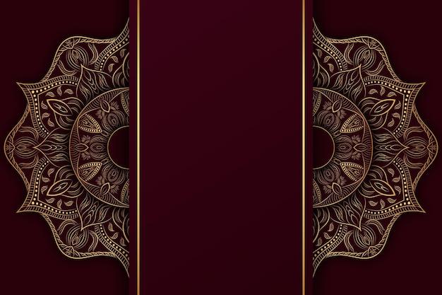 Detaillierter dunkler mandala-hintergrund