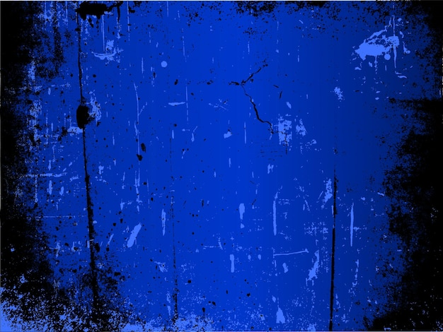 Detaillierter grunge-hintergrund in blautönen