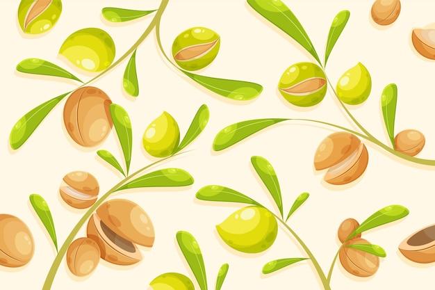 Detaillierter hintergrund des arganöls dargestellt