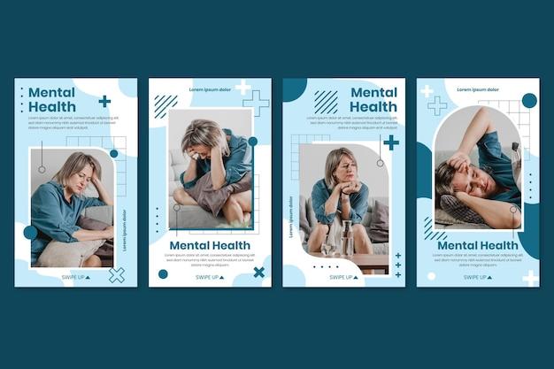 Detaillierter instagram-beitrag zur psychischen gesundheit mit foto