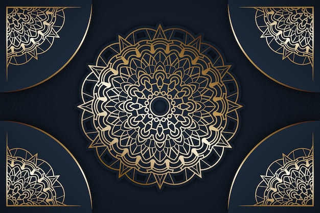 Detaillierter luxus-mandala-hintergrund
