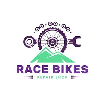 Detaillierter mechanismus für die logo-vorlage für fahrräder
