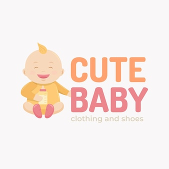 Detailliertes baby-logo