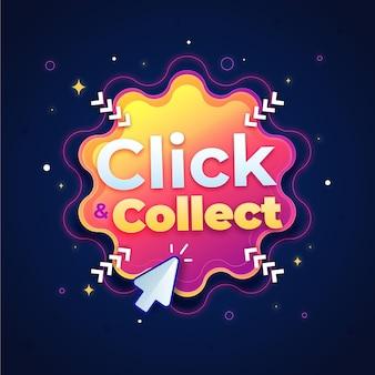 Detailliertes click & collect-zeichen