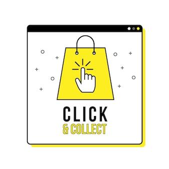 Detailliertes klicken und sammeln zeichen