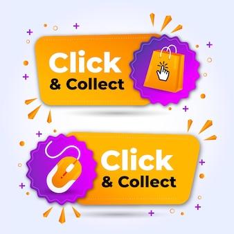 Detailliertes klicken und sammeln zeichen Premium Vektoren