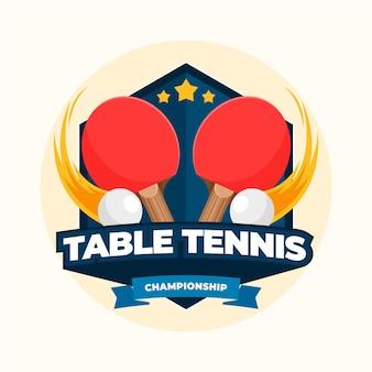 Detailliertes logo der tischtennis-meisterschaft