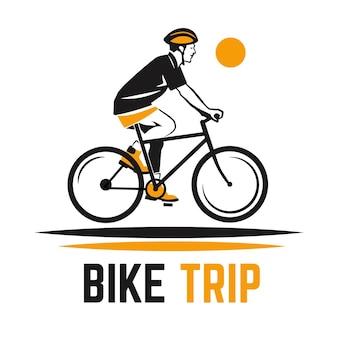 Detailliertes logo für radtouren