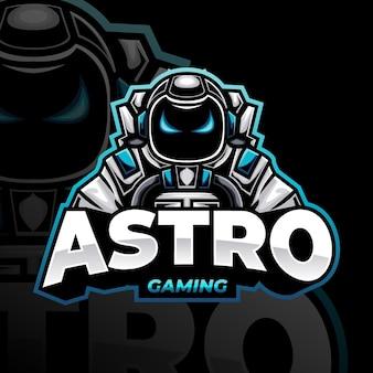 Detailliertes maskottchen-gaming-logo