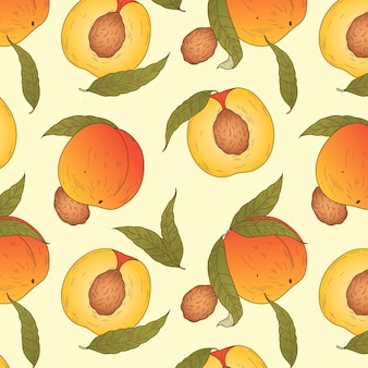 Detailliertes pfirsichmuster-design