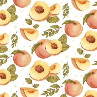 Detailliertes pfirsichmuster