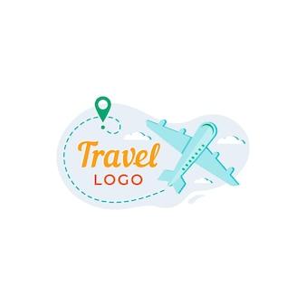 Detailliertes reiselogo-konzept