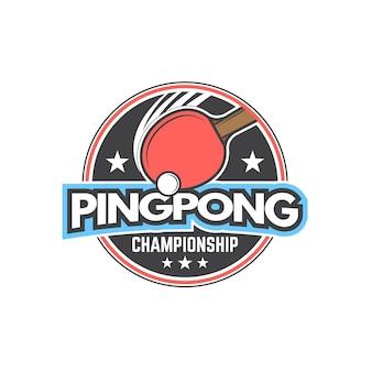 Detailliertes tischtennis-logo-design