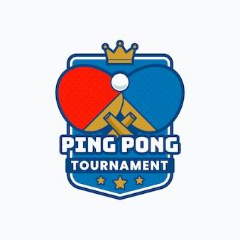 Detailliertes tischtennis-logo