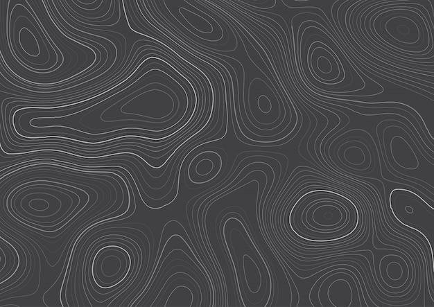 Detailliertes topographie-kartendesign
