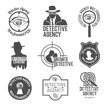 Detective logo gesetzt
