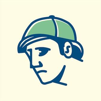Detektiv-vintage-designlinie hautnah, perfekt für logo-design, symbol, druck, etc