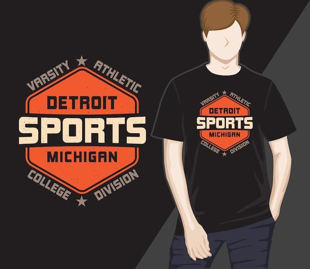 Detroit sport modernes typografie-t-shirt-design
