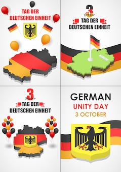 Deutsche einheit banner gesetzt