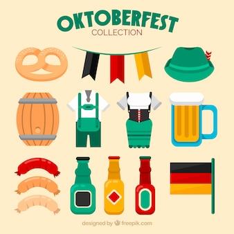 Deutsche elemente für oktoberfest party
