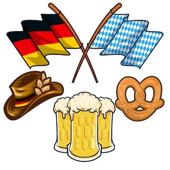 Deutsche tradition, bayerisches fest flagge hut bier
