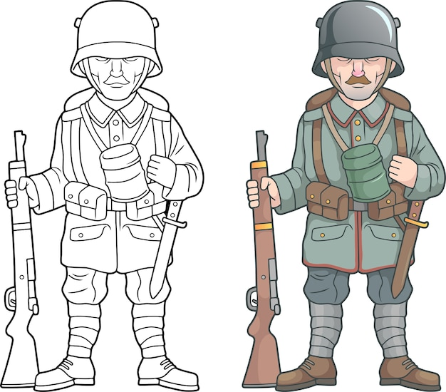 Deutscher soldat des weltkrieges