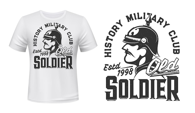 Deutscher soldat t-shirt druck