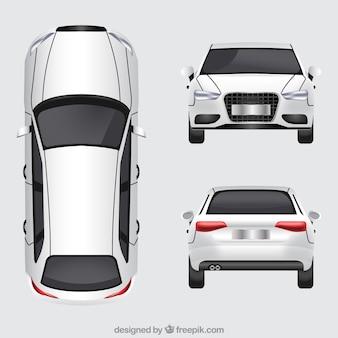 Deutsches auto in verschiedenen ansichten