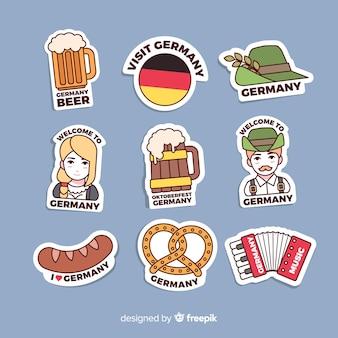 Deutschland aufkleber-sammlung