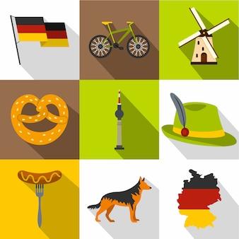 Deutschland festgelegt, flachen stil