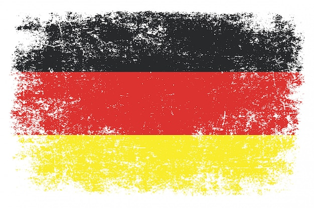 Deutschland flagge im grunge-stil