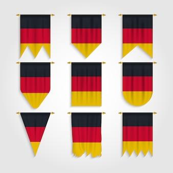 Deutschland flagge in verschiedenen formen