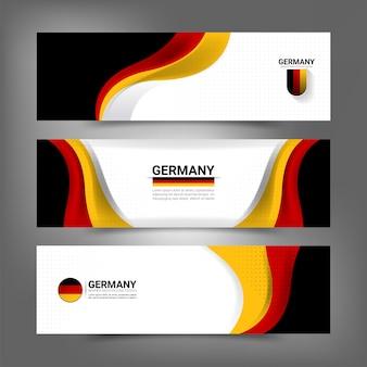 Deutschland flagge konzept banner