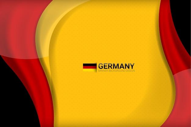 Deutschland flagge konzept hintergrund