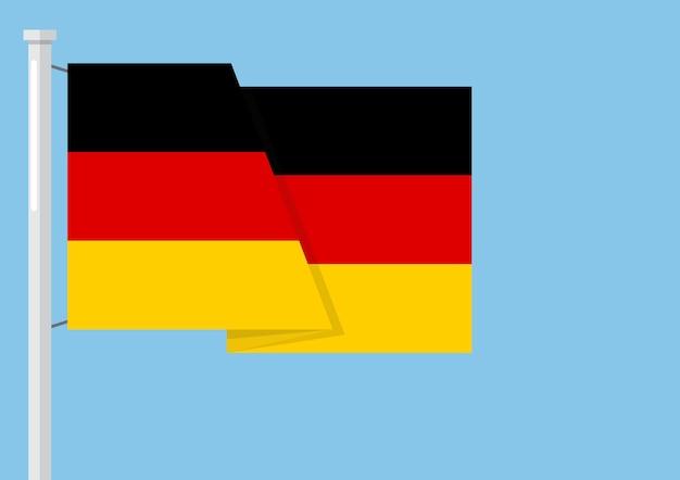 Deutschland flagge mit exemplar