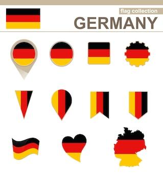 Deutschland flaggenkollektion, 12 versionen
