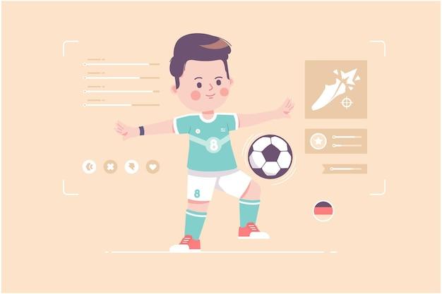 Deutschland fußballspieler süßes charakterdesign