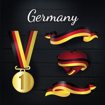 Deutschland goldmedaille und bänder sammlung