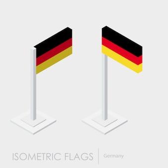 Deutschland isometrische flagge