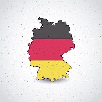 Deutschland-karte lokalisierte ikonenvektor-illustrationsdesign