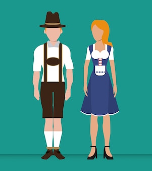 Deutschland. kultur-symbol. illustration