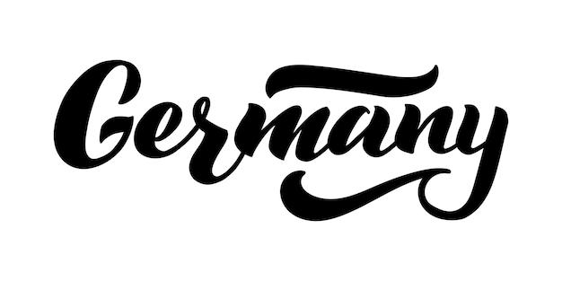 Deutschland-vektor-schriftzug design des ländernamens für deutschland moderne pinselkalligraphie