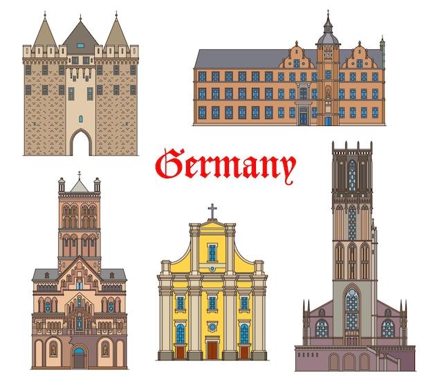 Deutschland wahrzeichen gebäude und kathedralen, deutsche reisearchitektur