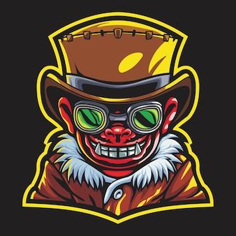 Devil boy esport logo illustration