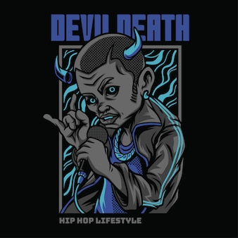 Devil death hiphop style illustration
