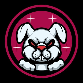 Devil rabbit esport logo illustration