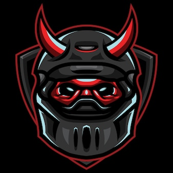 Devil riders esport logo illustration