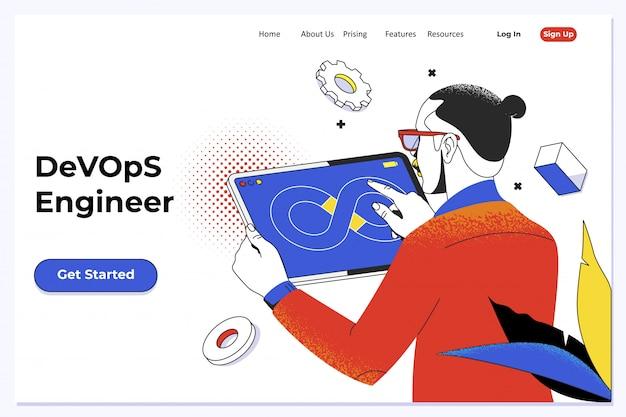 Devops - entwicklungszyklen der automatisierung und überwachung in allen schritten der softwareerstellung