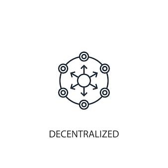 Dezentrales konzept symbol leitung. einfache elementabbildung. dezentraler konzeptentwurf symbolentwurf. kann für web- und mobile ui/ux verwendet werden
